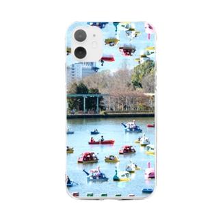 スワンボートはため池を泳ぐのではなく空を泳ぐ Soft clear smartphone cases
