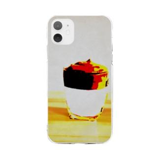 ダルゴナコーヒー Soft clear smartphone cases