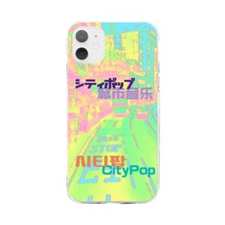 City Pop シティポップ Soft Clear Smartphone Case