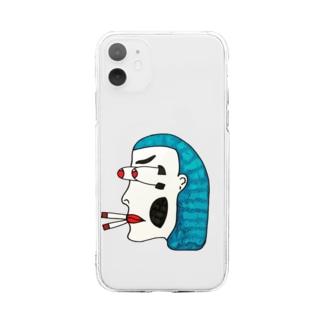 ツタンカーメン Soft clear smartphone cases