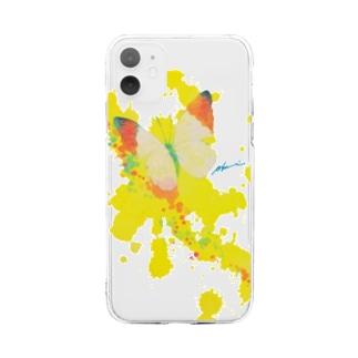 これから出逢う黃色の蝶 Soft clear smartphone cases