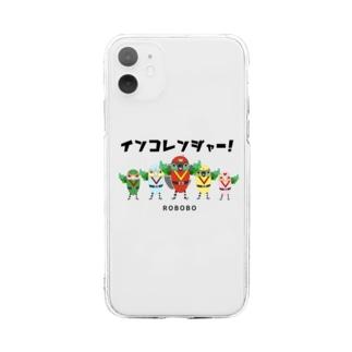 ROBOBO「インコレンジャー」 Soft clear smartphone cases