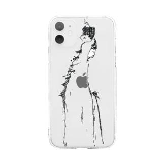 旅立つ少年 Soft clear smartphone cases