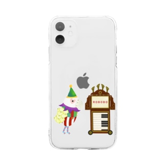 ROBOBO 紙芝居屋さん Soft clear smartphone cases