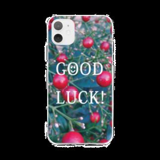 ミワサトの南天のスマホケース Soft clear smartphone cases