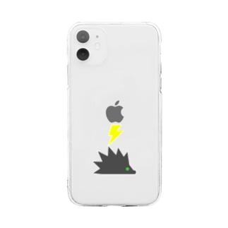 雷はもうたくサンダーケース Soft clear smartphone cases
