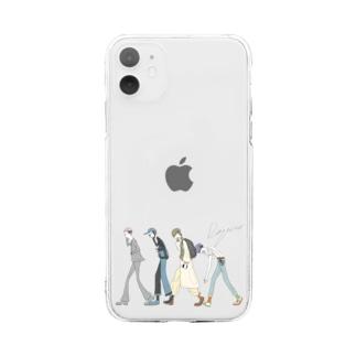2日酔い出勤 Soft clear smartphone cases
