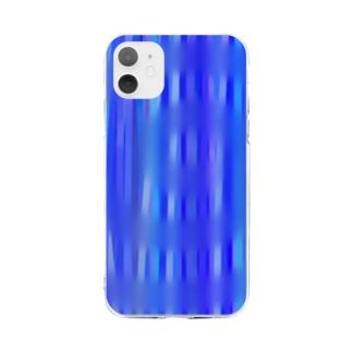 雨の波紋 Soft clear smartphone cases