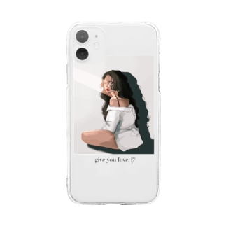 give you Love.♡ Soft clear smartphone cases