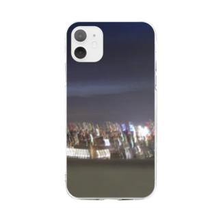 星の見えない夜空 Soft clear smartphone cases