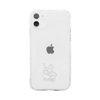 Studio512 ラーメン法師 Soft clear smartphone cases