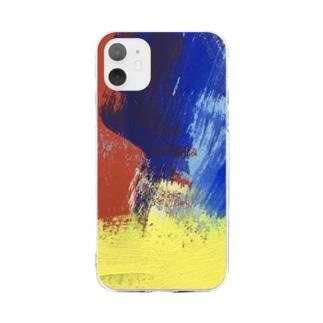 色のぶつかり合い Soft clear smartphone cases