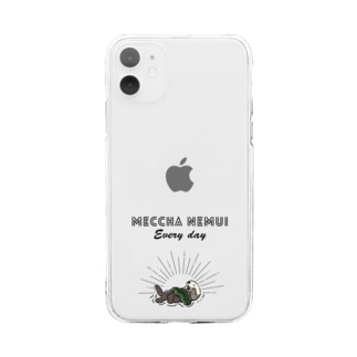 MECCHA NEMUI らっこ Soft clear smartphone cases