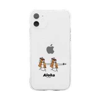 フラガール Soft clear smartphone cases