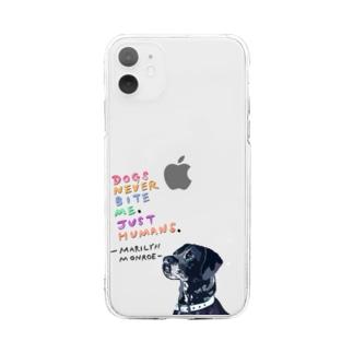 【イヌ・ドッグ】ソフトクリアiPhoneケース Soft clear smartphone cases