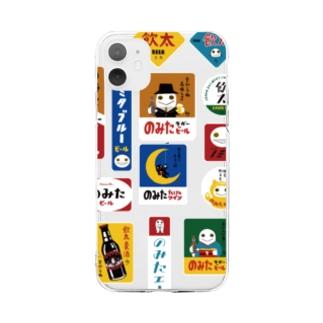 のみたのホーロー看板風 Soft clear smartphone cases