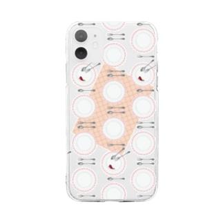 ごちそうさま Soft clear smartphone cases