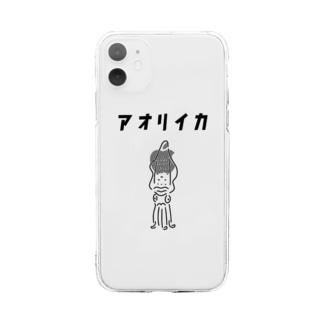 Aliviostaのアオリイカ ゆるいイラスト 釣り エギング Soft clear smartphone cases