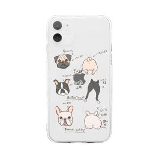 鼻ぺちゃ犬の見分け方 Soft clear smartphone cases