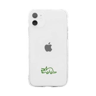 トリケラトプス Ver.2 Soft clear smartphone cases