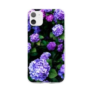 あじさいフォトケース Soft Clear Smartphone Case