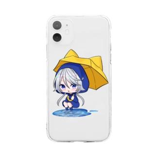 あかねざくグッズ Soft clear smartphone cases
