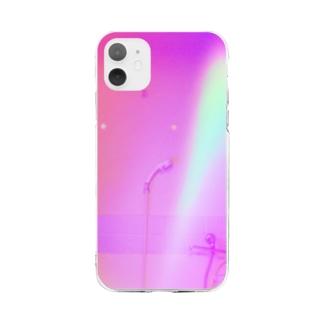 緑桃 Soft clear smartphone cases