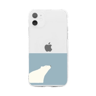 シロクマ Soft clear smartphone cases