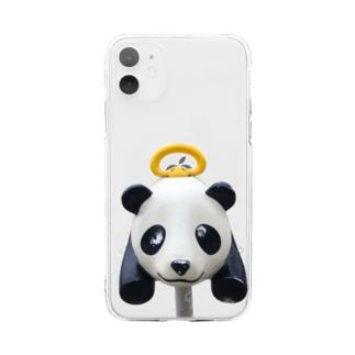 遊具〈パンダ〉 Soft clear smartphone cases