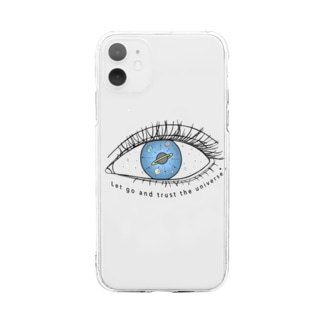 Universe in the eye Soft clear smartphone cases
