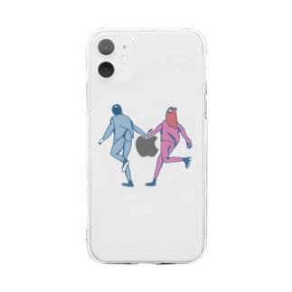 駆け落ち Soft clear smartphone cases