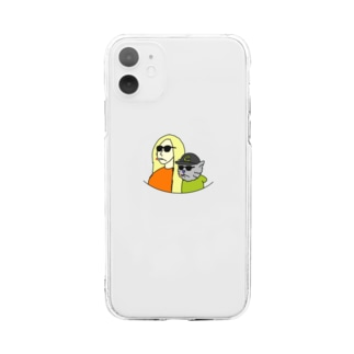girl&cat Soft clear smartphone cases