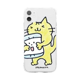 トラちゃん2(Color) Soft clear smartphone cases