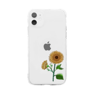 ヒマワリ🌻 Soft clear smartphone cases
