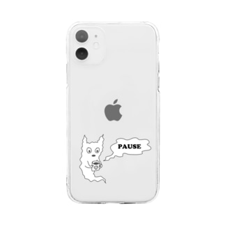 sinoop2 STOREのゴースト休憩中 Soft clear smartphone cases