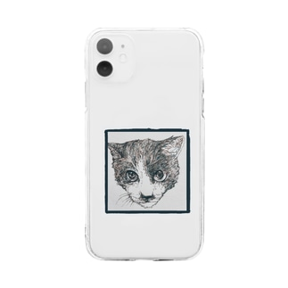 ブチくん Soft clear smartphone cases