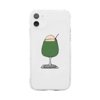 メロンフロート Soft clear smartphone cases