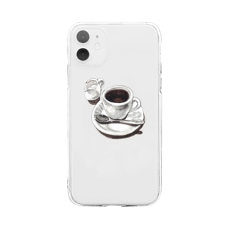 Coffee Soft clear smartphone cases
