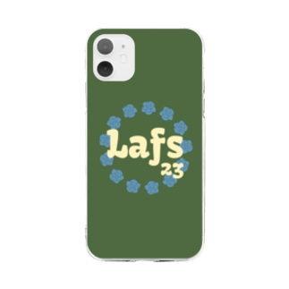 Lafs23 公式グッズ 「花」 Soft clear smartphone cases