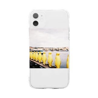 Yellow penguins Soft clear smartphone cases