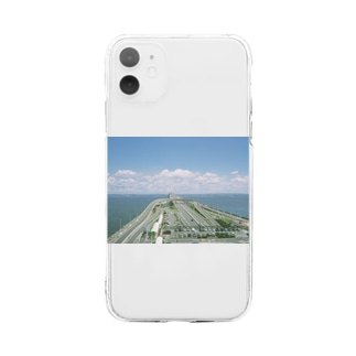 The SongsariのWhite n Blue Soft clear smartphone cases