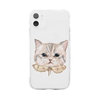 おめかしねこ Soft clear smartphone cases