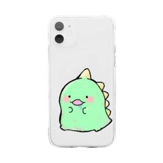 がおがおくんケース Soft clear smartphone cases