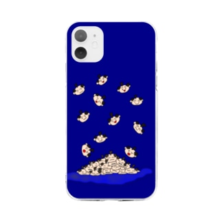 全ヅラ連 降ってくる子たち Soft clear smartphone cases
