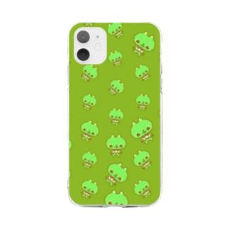 るるちゃん(グリーン) Soft clear smartphone cases