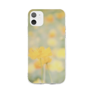 Petrichorのキバナコスモス Soft clear smartphone cases
