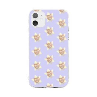 ほしねこ ドット Soft clear smartphone cases