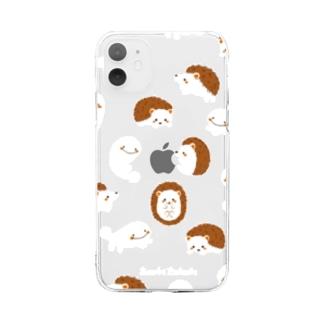 さらまんだーとハリネズミ Soft clear smartphone cases