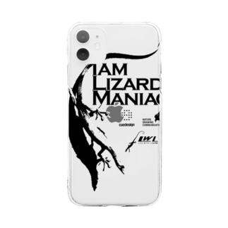 LWL+artのIamlizardmaniac Soft clear smartphone cases