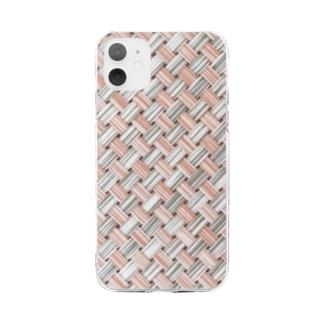 和~編み込み Soft clear smartphone cases